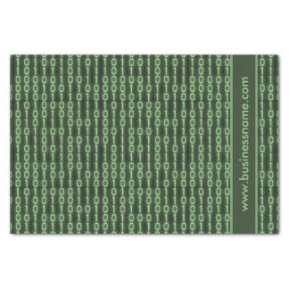 Código binário papel de seda