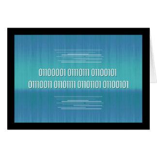 Código binário para o cartão de aniversário