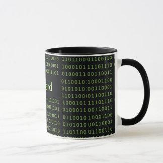 Código binário personalizado caneca