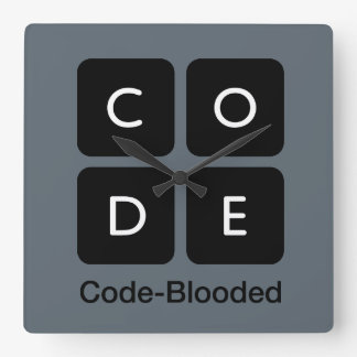 Código-Blooded Relógios De Paredes