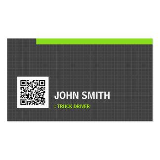 Código da grade QR da simplicidade do motorista de Cartão De Visita