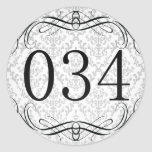 Código de área 034 adesivos em formato redondos
