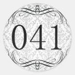 Código de área 041 adesivo em formato redondo