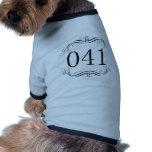 Código de área 041 camiseta para caes