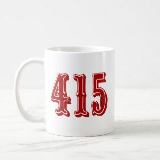 Código de área 415 caneca de café
