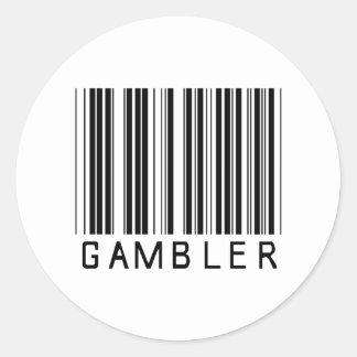 Código de barras do jogador adesivos redondos