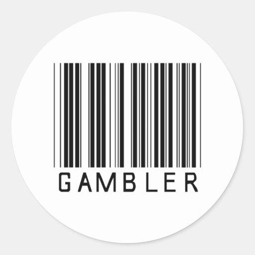 Código de barras do jogador adesivos em formato redondos