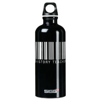 Código de barras do professor da história garrafa d'água de alumínio