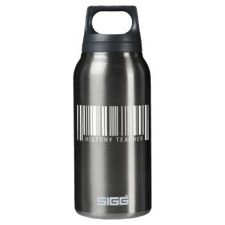 Código de barras do professor da história garrafa de água térmica