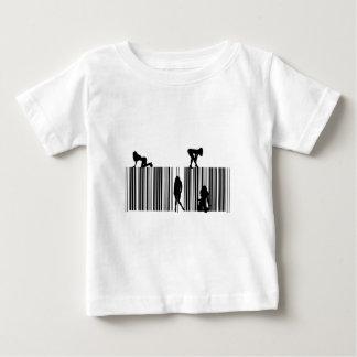 Código de barras ideal camiseta para bebê