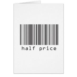 Código de barras - meio preço cartão