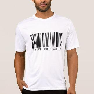 Código de barras pré-escolar do professor camiseta