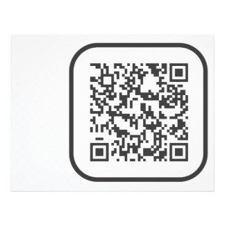Código de barras Scannable de QR Flyer 21.59 X 27.94cm