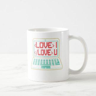 Código de computador eu te amo para Techies Caneca De Café