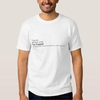 código de erro 404 tshirt