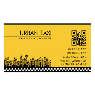 Código moderno do taxista QR do motorista de táxi Cartão De Visita