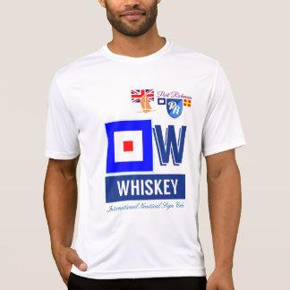 Código náutico Grâ Bretanha do sinal do uísque de Camiseta