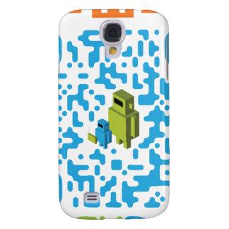 Código prendido do pai QR do geek Capas Personalizadas Samsung Galaxy S4