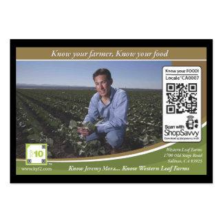 Código Shelftalker rastreável de QR (fazenda indep Cartão De Visita Grande