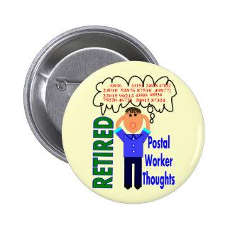 Códigos postais engraçados postais aposentados dos boton