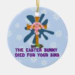 Coelhinho da Páscoa ateu Ornamento Para Arvore De Natal