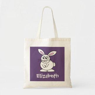 Coelhinho da Páscoa bonito dos desenhos animados c Bolsa Para Compras