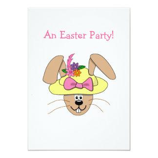 Coelhinho da Páscoa bonito dos desenhos animados Convites Personalizado