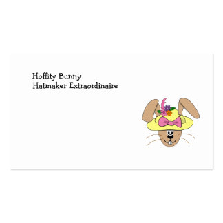 Coelhinho da Páscoa bonito dos desenhos animados e Cartoes De Visitas
