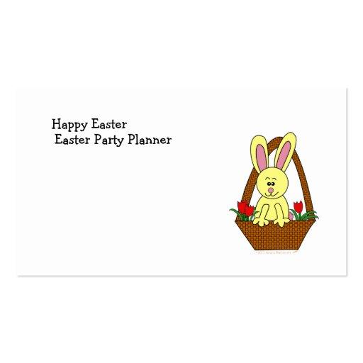 Coelhinho da Páscoa bonito dos desenhos animados e Cartões De Visita