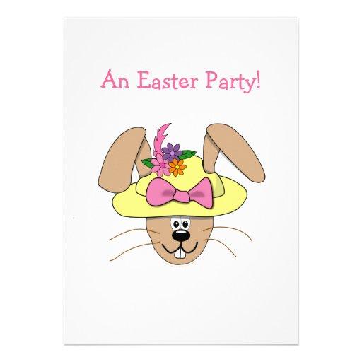 Coelhinho da Páscoa bonito dos desenhos animados e Convites Personalizado