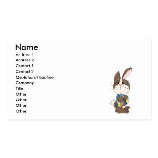 coelhinho da Páscoa bonito e ovo da páscoa Cartões De Visitas