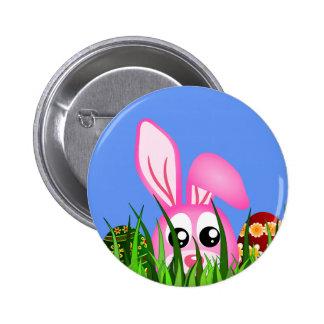 Coelhinho da Páscoa bonito e ovos em botões Bóton Redondo 5.08cm