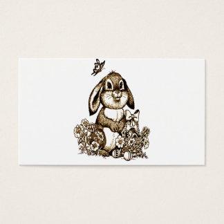 Coelhinho da Páscoa Cartão De Visitas