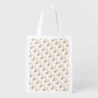 Coelhinho da Páscoa com desenhos animados das flor Sacolas Ecológicas