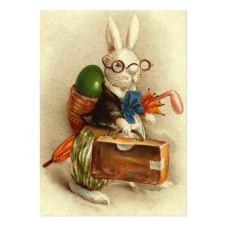 Coelhinho da Páscoa com vidros Cartão De Visita Grande