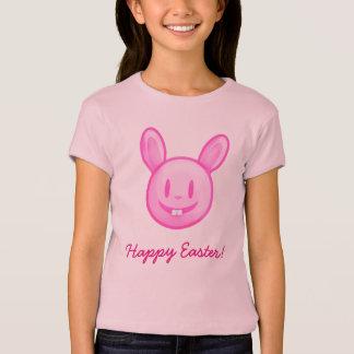 Coelhinho da Páscoa cor-de-rosa do felz pascoa T-shirts
