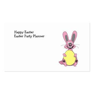 Coelhinho da Páscoa cor-de-rosa dos desenhos Cartão De Visita
