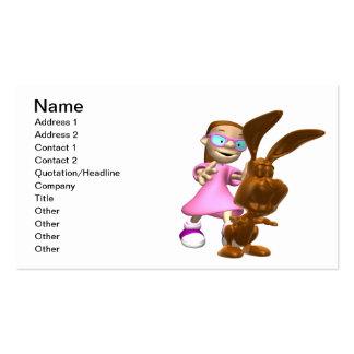 Coelhinho da Páscoa do chocolate Cartão De Visita
