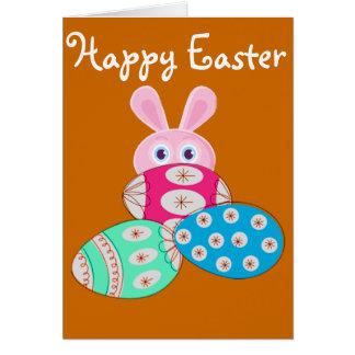 Coelhinho da Páscoa dos ovos da páscoa Cartão De Nota