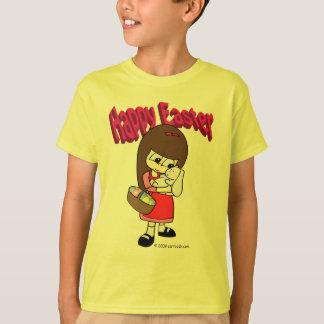 Coelhinho da Páscoa e a menina Camiseta