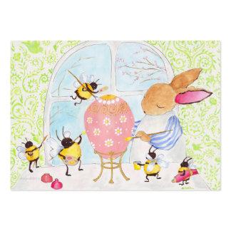Coelhinho da Páscoa e abelhas Cartão De Visita Grande