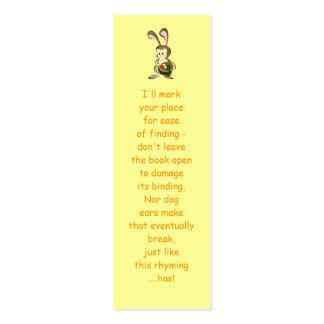 Coelhinho da Páscoa e cesta leve estupefacção dos Cartão De Visita Skinny