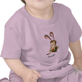 Coelhinho da Páscoa e cesta leve estupefacção dos  Camiseta