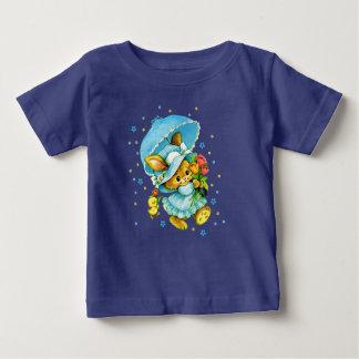 Coelhinho da Páscoa e pintinho do vintage. O Camiseta Para Bebê