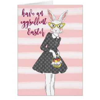 Coelhinho da Páscoa eggsellent do cartão de felz