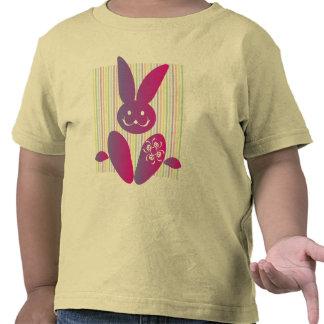 Coelhinho da Páscoa engraçado em listras T-shirt