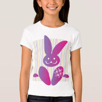 Coelhinho da Páscoa engraçado em listras Camisetas