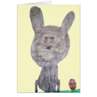 Coelhinho da Páscoa especial do ovo Cartão Comemorativo