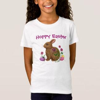 Coelhinho da Páscoa Hoppy da páscoa - T Camiseta