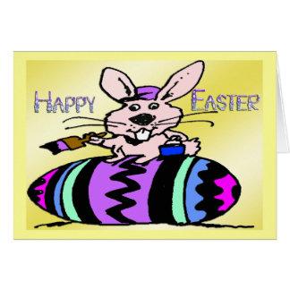 Coelhinho da Páscoa & ovo Cartão Comemorativo